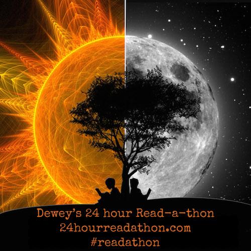 dewey's readathon sun moon Cy-V banner button